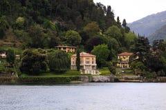 Chalets de Como del lago Fotos de archivo
