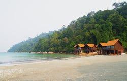 Chalets de la playa Imagen de archivo libre de regalías