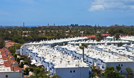 Chalets de las vacaciones, islas Canarias Imagen de archivo