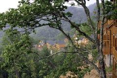 Chalets de montagne près de Gatlinburg, Tennessee images stock