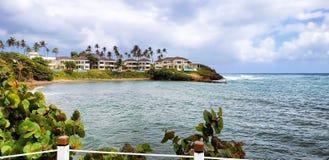 Chalets de playa, Puerto Plata, República Dominicana imagenes de archivo