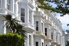 Chalets magníficos Notting Hill Londres de las ventanas saledizas Fotografía de archivo libre de regalías