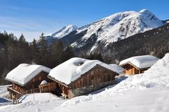 Chalets in the mountains Royalty Free Stock Photography