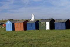 Chalets in Portland island, Dorset, England Royalty Free Stock Image