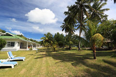 Chalets on seychelles. Royalty Free Stock Photos