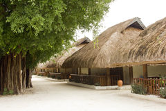 Chalets with thatched roofs Royalty Free Stock Photography