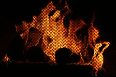 Chaleur de cheminée Photo libre de droits