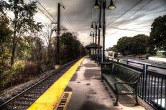 Chalfont-Bahnstation, Pennsylvania Lizenzfreies Stockbild