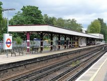 Chalfont en Latimer-post, op de Metropolitaanse lijn van Londen ondergronds stock afbeeldingen