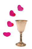 Chalice. And love Royalty Free Stock Images