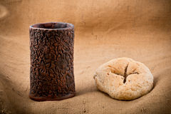 Free Chalice And Bread Stock Photo - 38685750