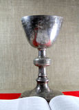 Chalice and Bible Stock Photography