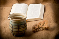 Chalice And Bread Stock Photos