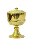 Chalice Eucharist on white background Royalty Free Stock Images