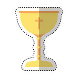 Chalice first communion icon. Illustration design Royalty Free Stock Photos
