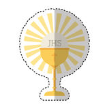 Chalice first communion icon. Illustration design Royalty Free Stock Image