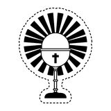 Chalice first communion icon. Illustration design Stock Photo