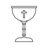 Chalice first communion icon. Illustration design Royalty Free Stock Images