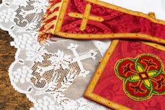 Chalice manipuł i przesłona obrazy royalty free