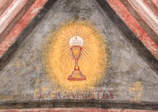 Chalice painted on the wall Royalty Free Stock Photography