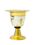 Chalice with plate on white background Stock Photography