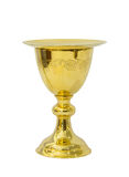 Chalice with plate on white background Royalty Free Stock Images