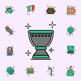 Chalice, St. Patrick\'s day icon. St.Patricks day icons universal set for web and mobile. On color background vector illustration
