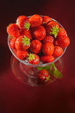 A chalice of strawberries. A chalice with fresh strawberries royalty free stock photo