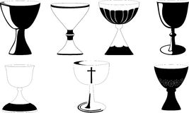 Chalice at Mass royalty free illustration