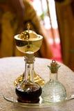 Chalice, vinho, água Fotos de Stock Royalty Free