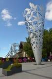 Chalice w katedra kwadracie Christchurch, Nowa Zelandia - Zdjęcie Stock