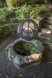 Chalice Well. The Chalice Well, also known as the Red Spring, is a well situated at the foot of Glastonbury Tor in the county of Somerset, England Royalty Free Stock Photo