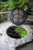 Chalice Well. World famous Chalice Well, the fountain, Glastonbury, England stock photography