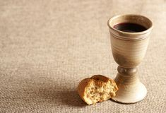 Chalice and wine Stock Images