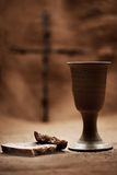Chalice Of Wine And Bread Royalty Free Stock Photography