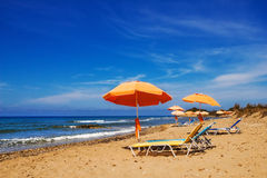 Chalikounas beach, Corfu Stock Photos