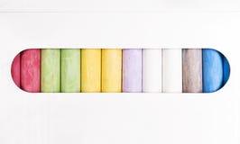 Chalk. Multi-color box of chalk Stock Photo