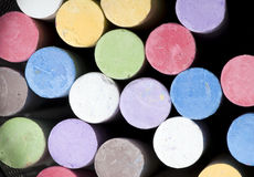 Chalk. Multi-color box of chalk Royalty Free Stock Images