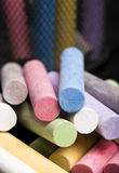 Chalk. Multi-color chalk On Close-up Royalty Free Stock Photography