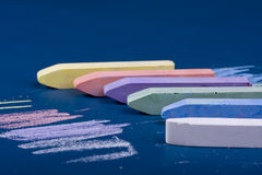 Chalk. Colorful chalk on the school board Royalty Free Stock Photos