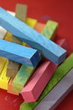 Chalk. Coloured chalk pieces Stock Photos
