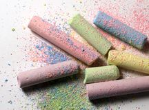 Chalk. Closeup of pastel colored chalk Royalty Free Stock Photography