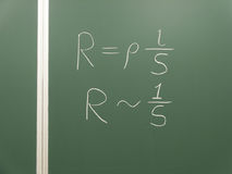 Chalk algebra formula  Royalty Free Stock Photography
