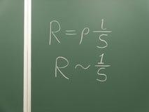 Chalk algebra formula  Royalty Free Stock Photography