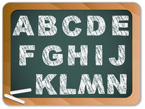 Chalk Alphabet on Blackboard Royalty Free Stock Photography