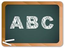 Chalk Alphabet on Blackboard. Chalk ABC Alphabet on Blackboard Royalty Free Stock Photography