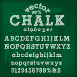 Chalk alphabet. Vector hand drawn chalk alphabet Royalty Free Stock Photos