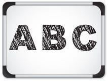 Chalk Alphabet on Whiteboard Royalty Free Stock Photo