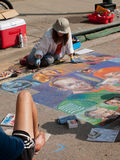 Chalk Art Festival Stock Photos