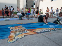 Chalk Art Festival Stock Photography